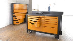 Heavy-duty steel workbench