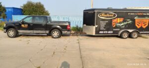 swivel storage workbench truck and trailer